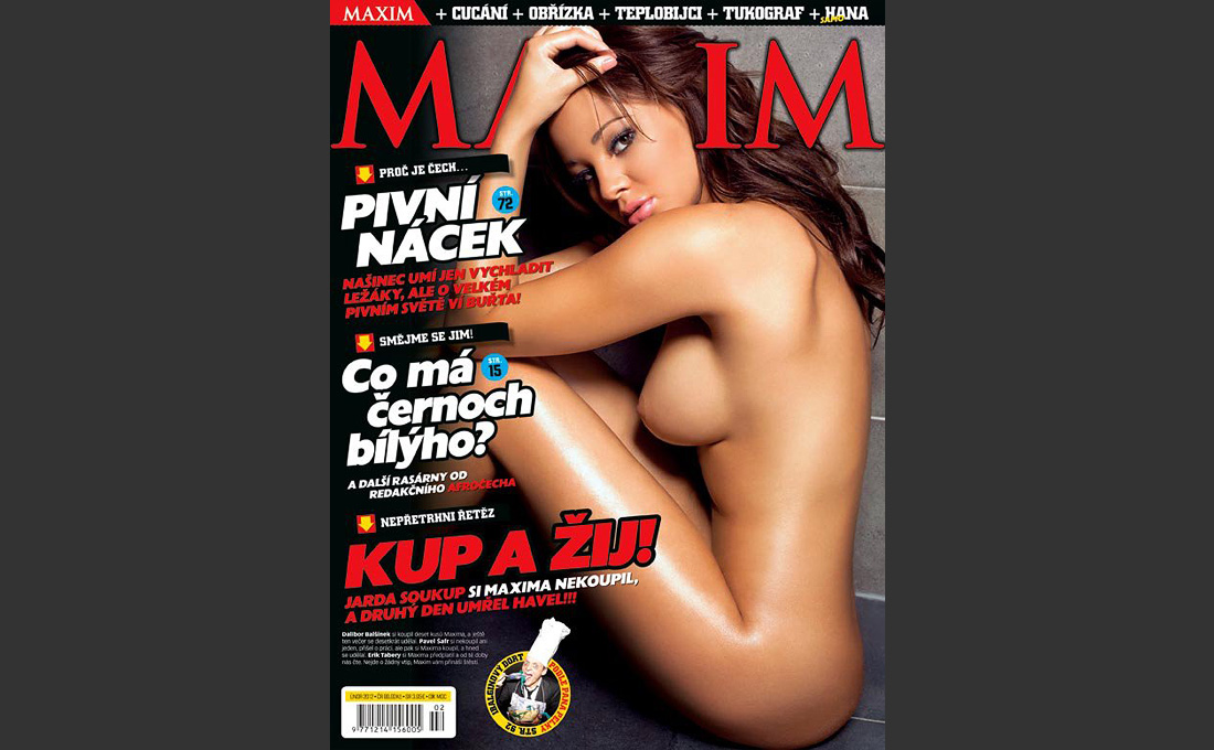 Maxim Czech RepublicFront cover and 5 page feature of Courtnie Quinlan in the Czech Republic edition of Maxim magazine. Jan/Feb 2012, Model: Courtnie Quinlan @ Samantha Bond Management, Makeup Artist: Rebecca Searle @ Animate